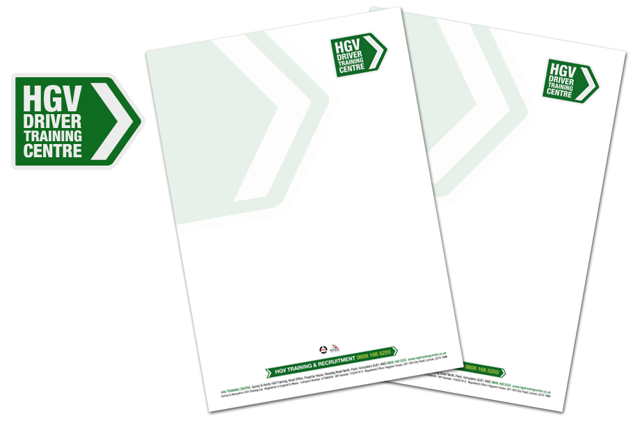 HGV Driver Training Centre logo and stationery