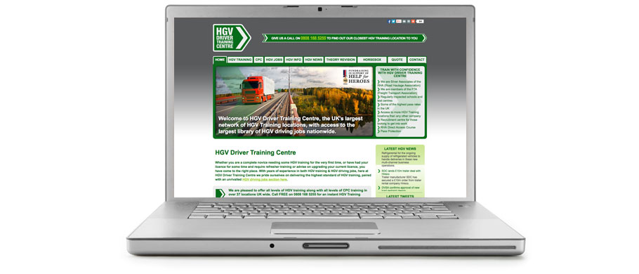 HGV Driver Training Centre home page