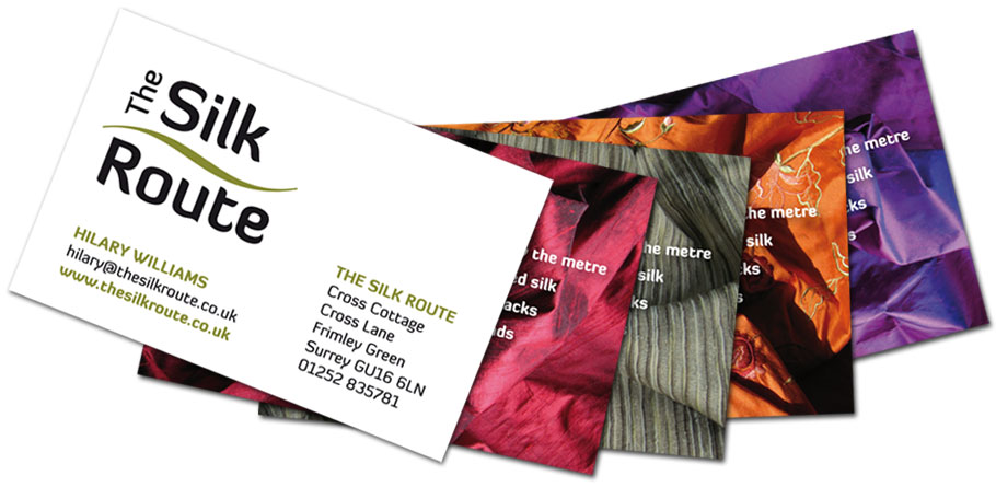 silk route business cards