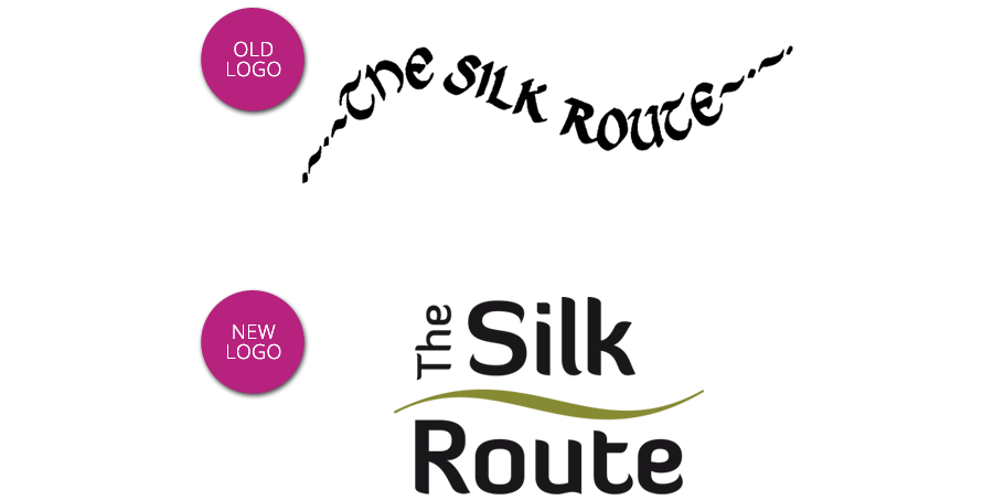 Silk Route old and new logos