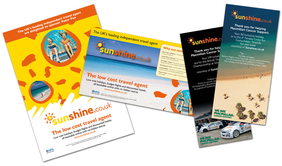 sunshine adverts and posters