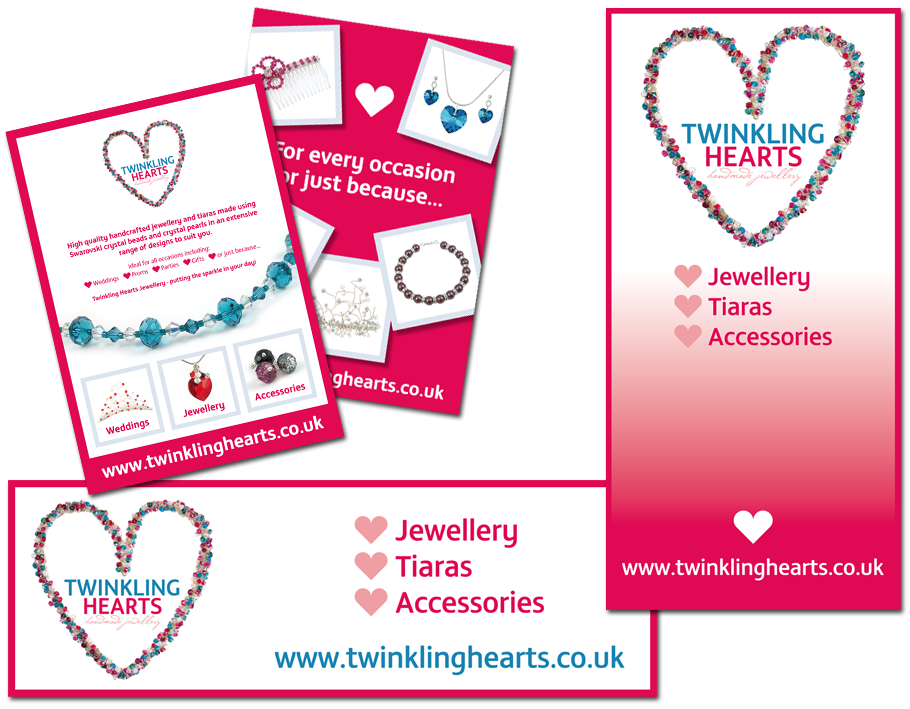 twinkling hearts adverts and banners