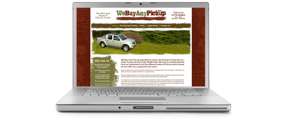 we buy any pickup home page