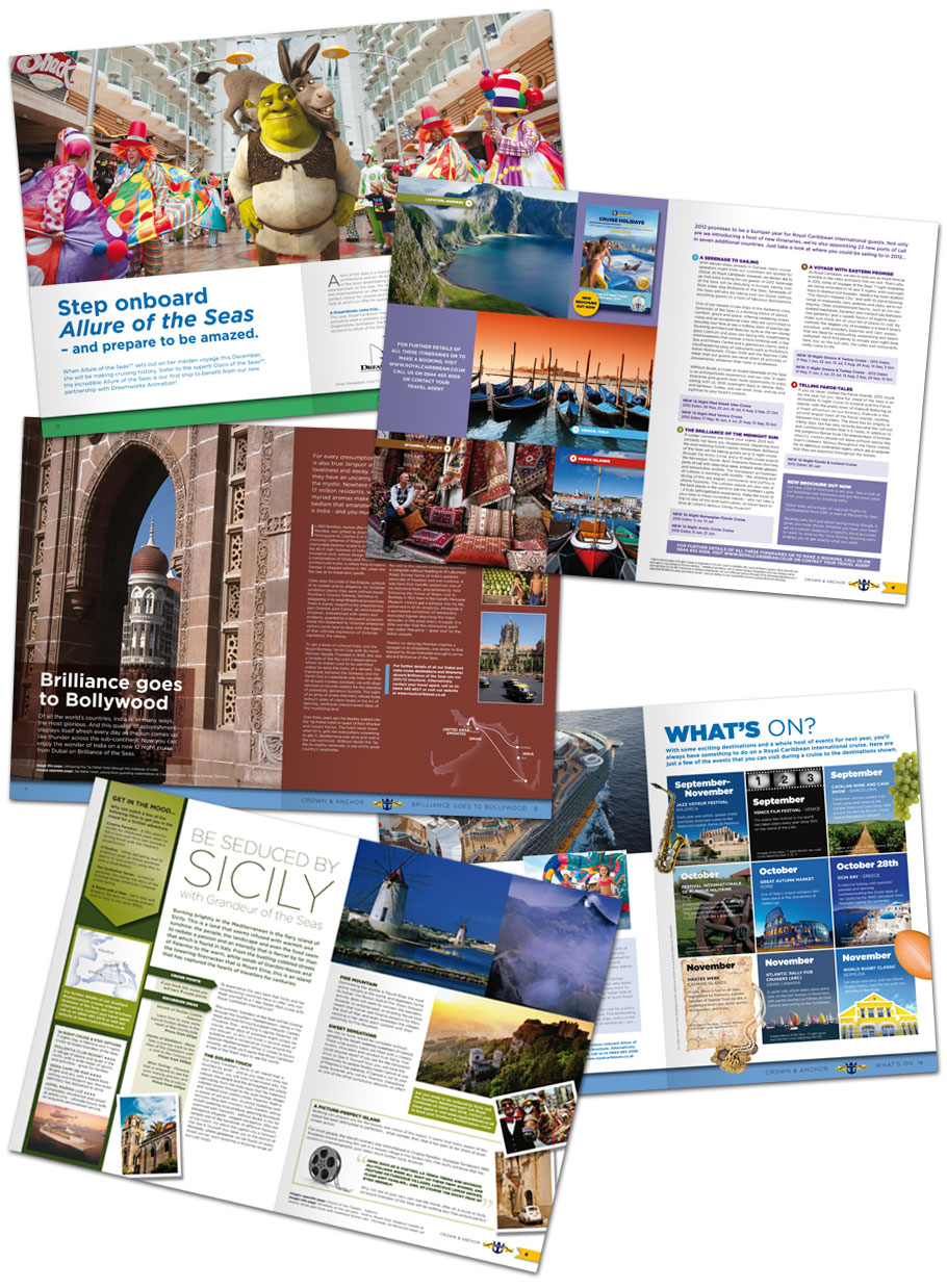 royal caribbean magazine spreads