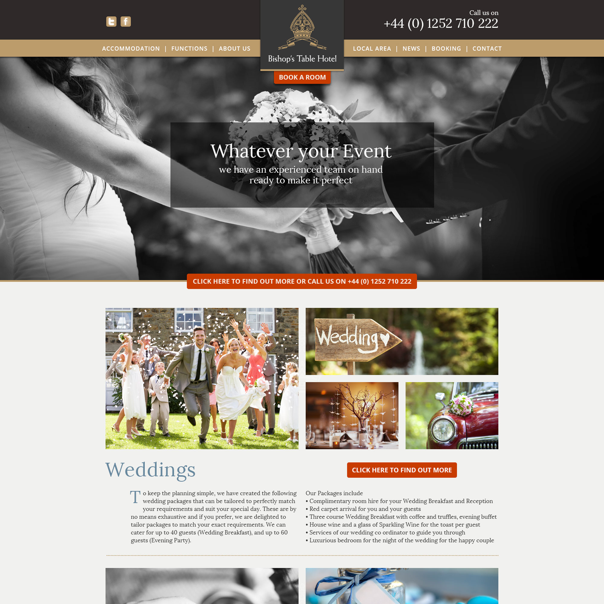bishops table new website events page