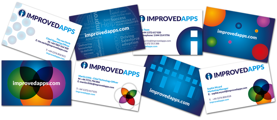improved apps business cards