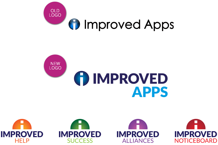 improved apps logo set