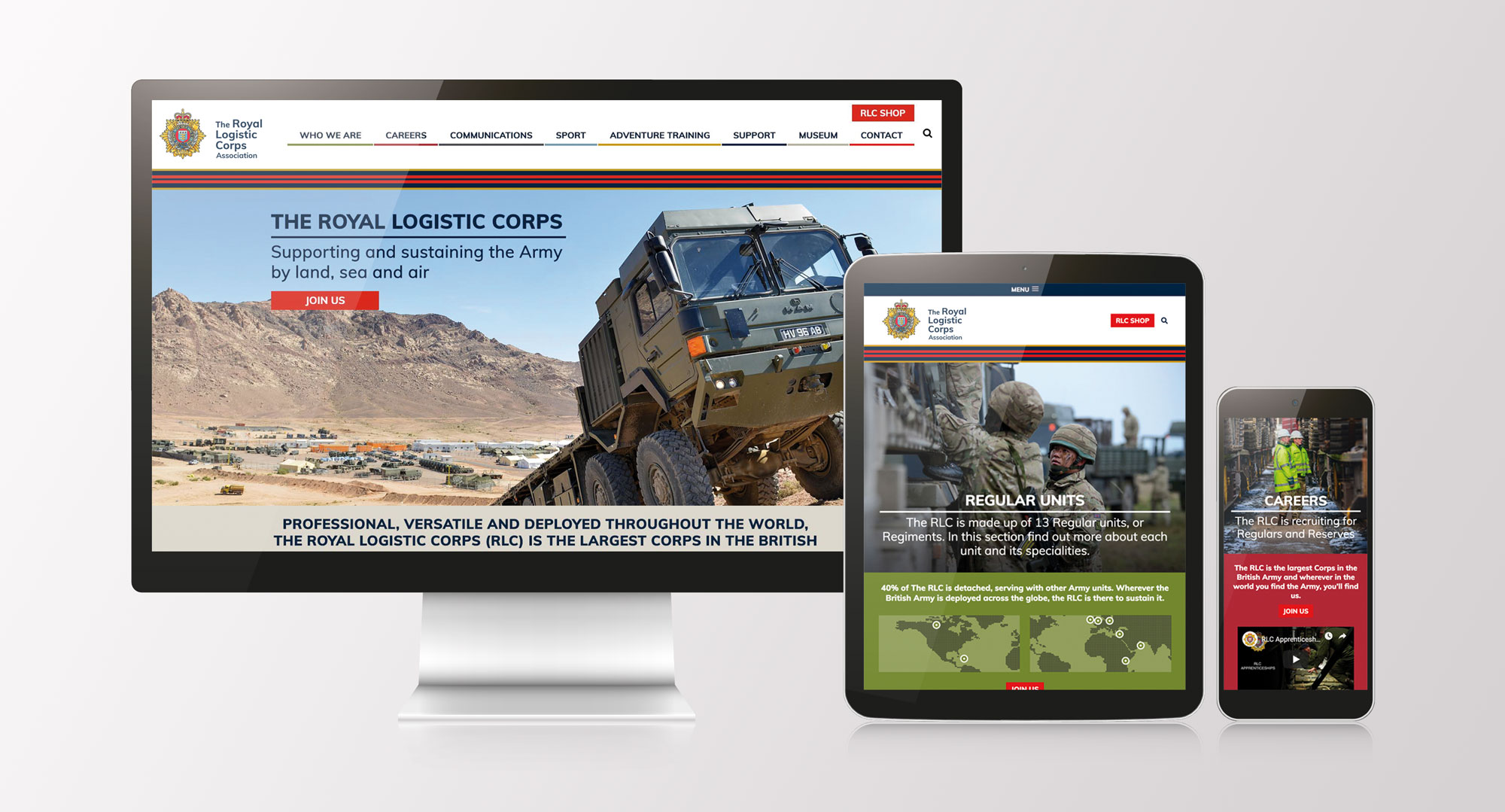 royal logistic corps new website